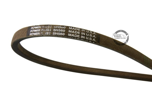 brown mower belt. powerplus belt, thermoid powerplus belt, mower belt, lawn mower belt