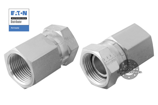 Eaton Aeroquip Internal Pipe Swivel (NPSM) to External Pipe Adapter