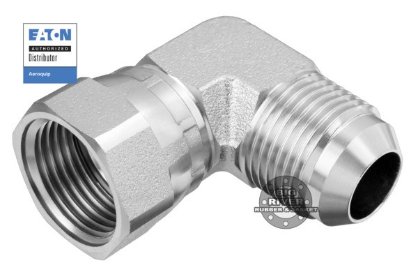 Eaton Aeroquip 37° (JIC) Flare Swivel to 37° (JIC) Flare 90° Elbow Union Adapter