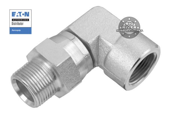 Eaton Aeroquip Male External Pipe Swivel to Female Internal Pipe NPTF/NPSM SAE 90° Elbow Adapter