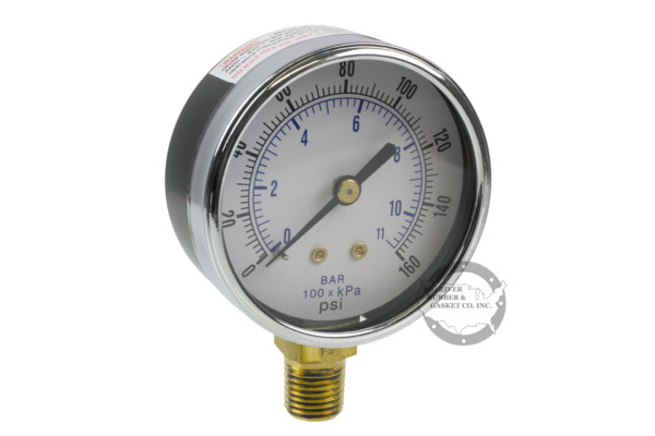 Utility Gauge, Lower Mount Gauge, Pressure Gauge, Bottom Mount Gauge