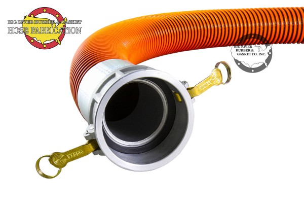 Orange Vacuum Hose Assembly, Vacuum Hose